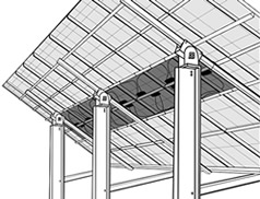 Solar panel rack illustration